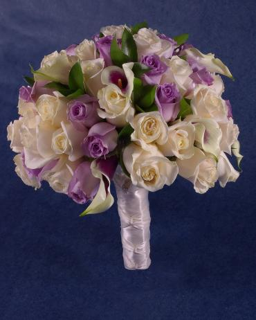 Purple and Ivory Bouquet