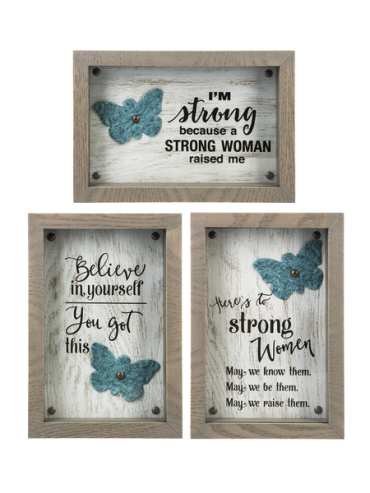 Shadow Box Plaques - $22.00 Each