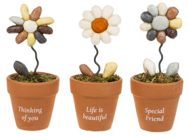 Flower Pot Figurines - $14.00 Each