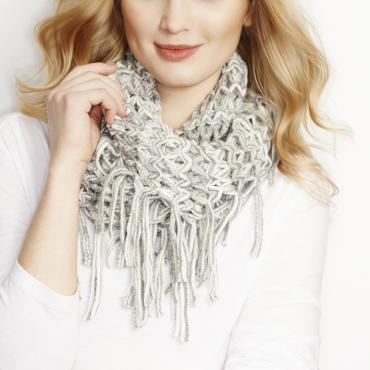 Two Tone Infinity Scarf