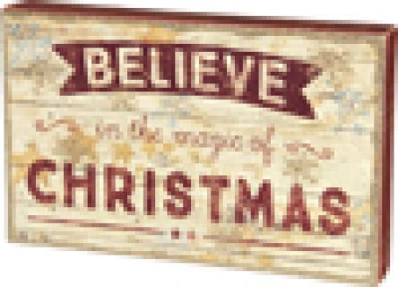 Box Sign - Believe