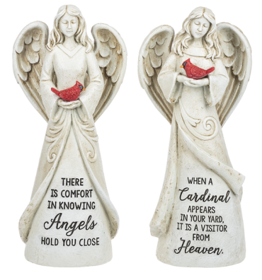 Angel with Cardinal - $30.00 Each